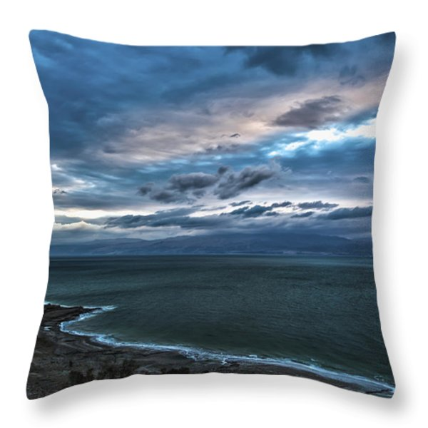 Sunrise Over The Dead Sea Israel Throw Pillow by Reynold Maines