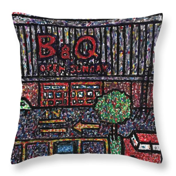 Sunset at the Superstore Throw Pillow by Andy  Mercer