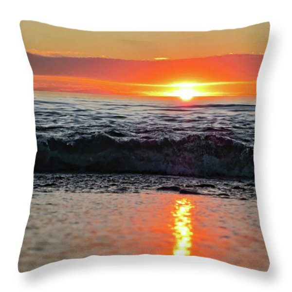 Sunset Beach Throw Pillow by Douglas Barnard