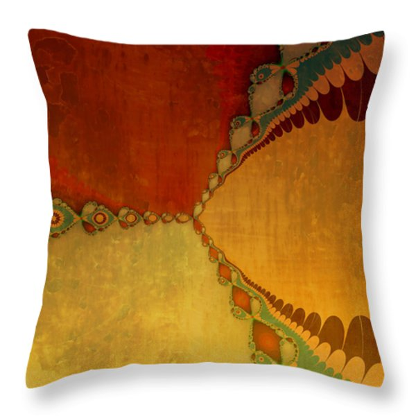 Sunset Throw Pillow by Bonnie Bruno