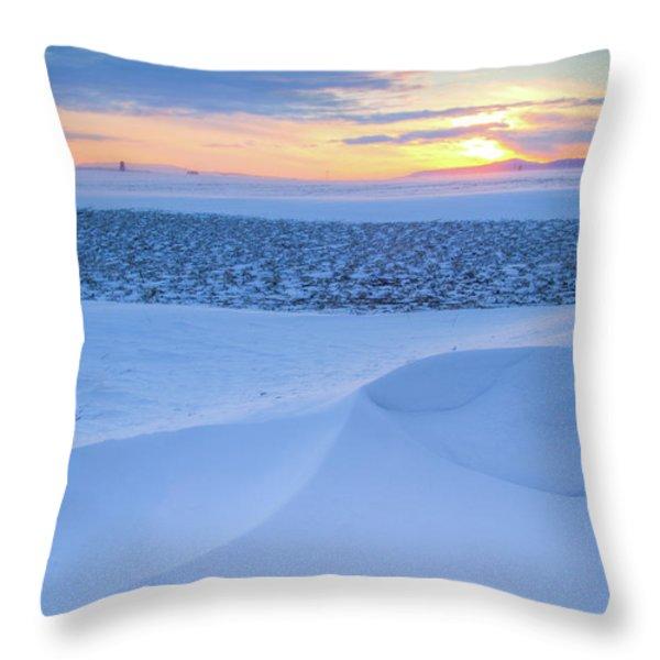 Sunset Drift Throw Pillow by Idaho Scenic Images Linda Lantzy
