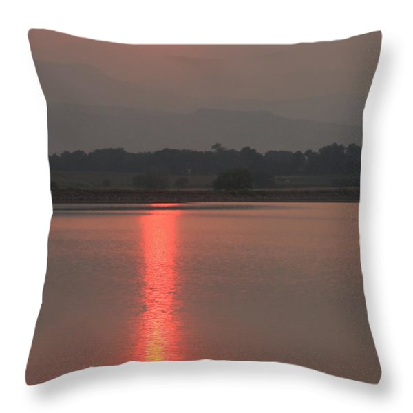 Sunset Fire Throw Pillow by James BO  Insogna