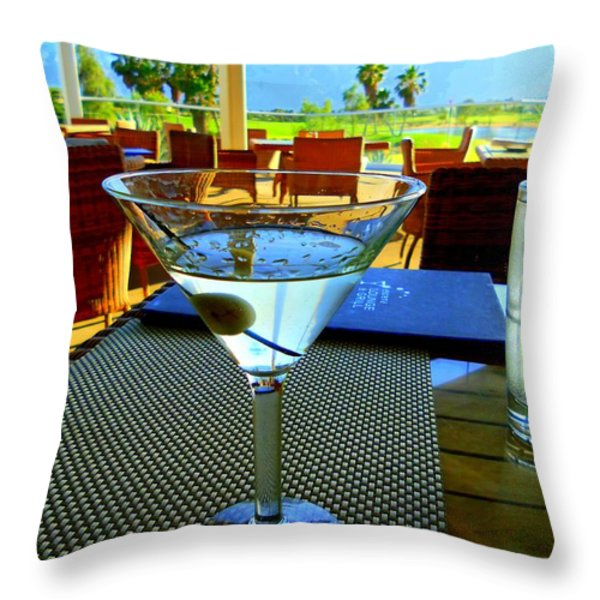 Sunset Martini Throw Pillow by Randall Weidner