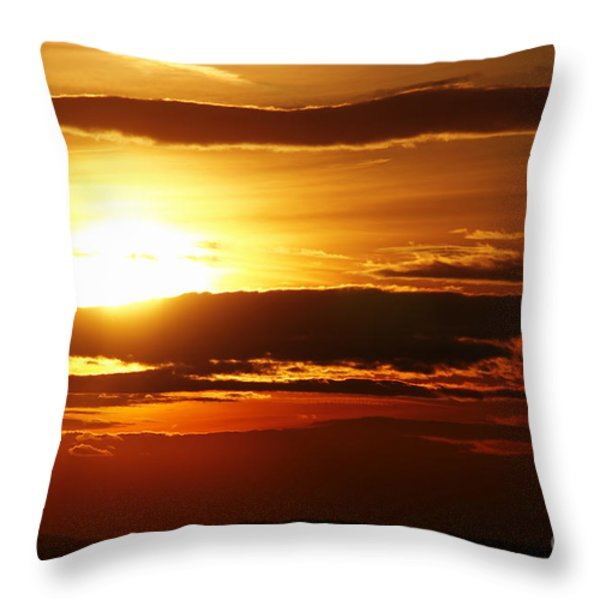 Sunset Throw Pillow by Michal Boubin