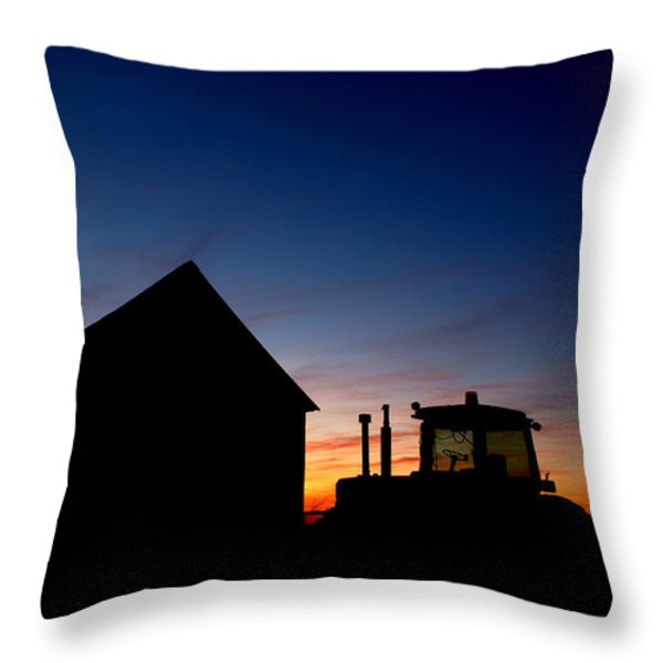 Sunset on the Farm Throw Pillow by Cale Best