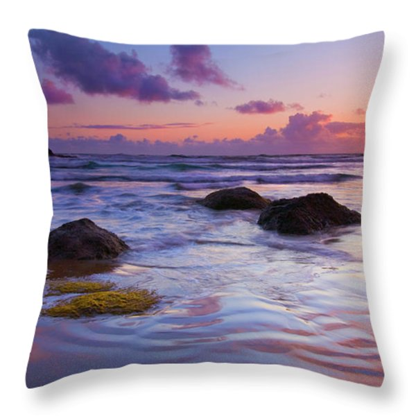 Sunset Ripples Throw Pillow by Mike  Dawson