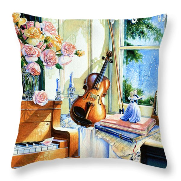 Sunshine And Happy Times Throw Pillow by Hanne Lore Koehler