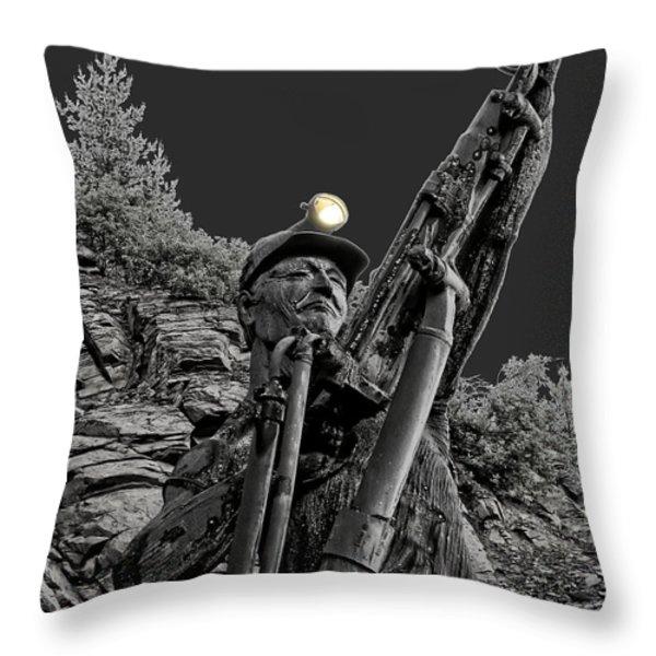 Sunshine Silver Mine Memorial - Kellogg Idaho Throw Pillow by Daniel Hagerman