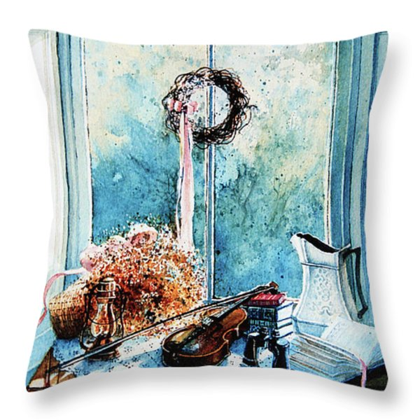 Sunshine Treasures Throw Pillow by Hanne Lore Koehler