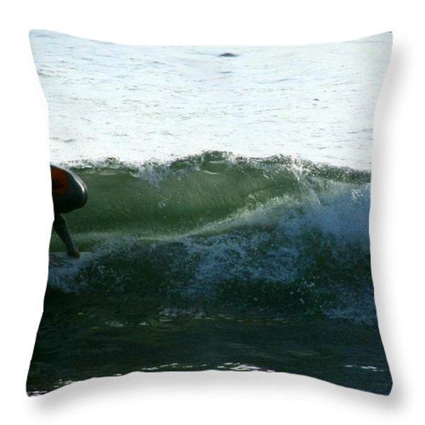 Surf Throw Pillow by Stephanie Haertling