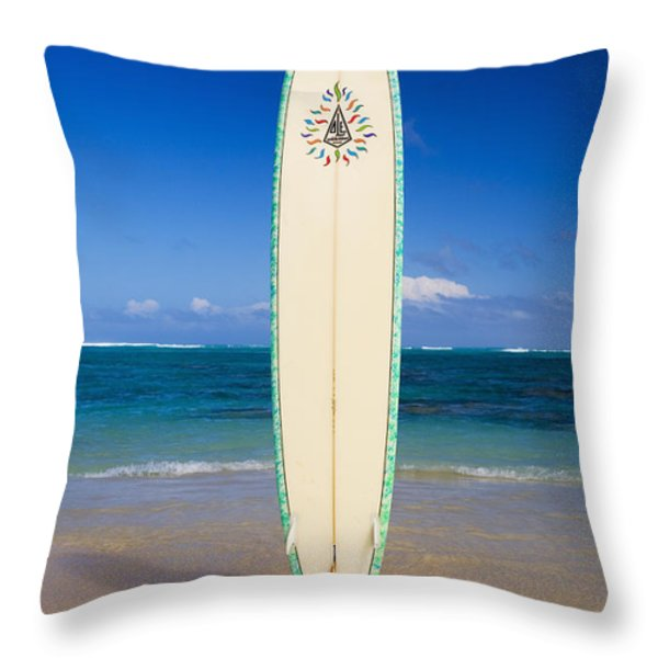 Surfboard Throw Pillow by Tomas del Amo - Printscapes