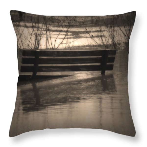 Surrender Throw Pillow by Cathy  Beharriell