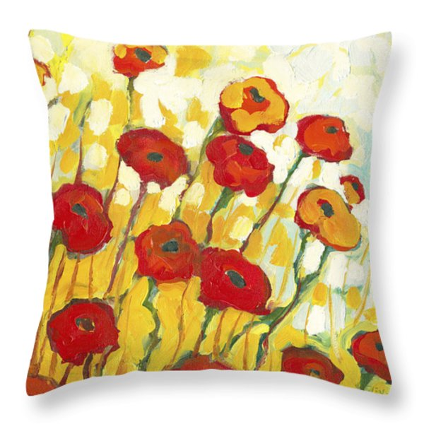 Surrounded in Gold Throw Pillow by Jennifer Lommers