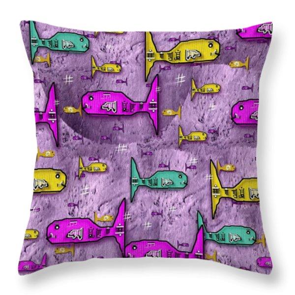 Sushi naturelle Throw Pillow by Pepita Selles