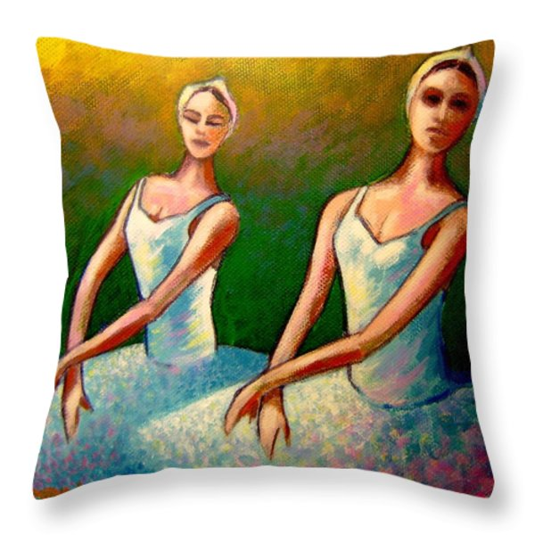 Swan Lake I Throw Pillow by John  Nolan