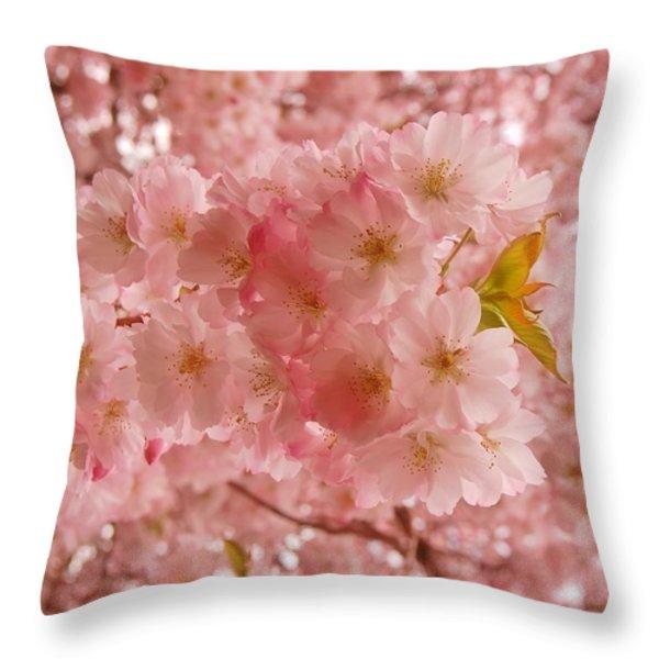 Sweet Pink- Holmdel Park Throw Pillow by Angie Tirado