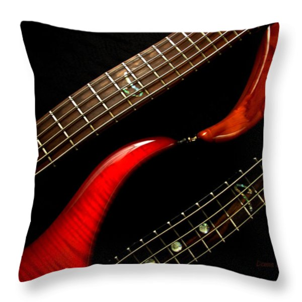 Sweet Refrain Throw Pillow by Donna Blackhall