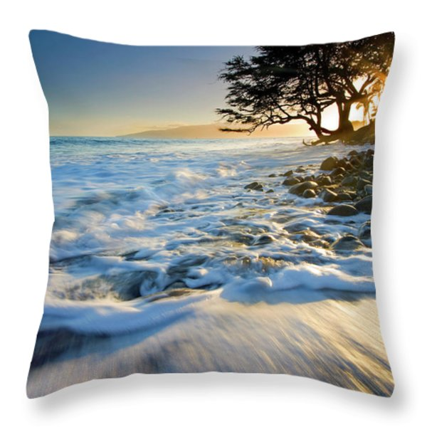 Swept out to Sea Throw Pillow by Mike  Dawson