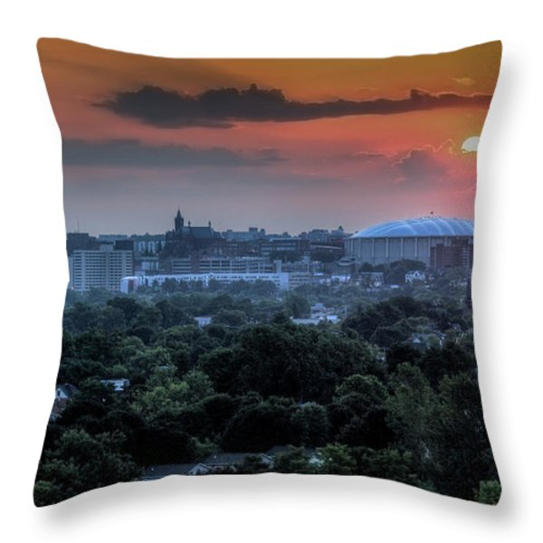 Syracuse Sunrise Throw Pillow by Everet Regal