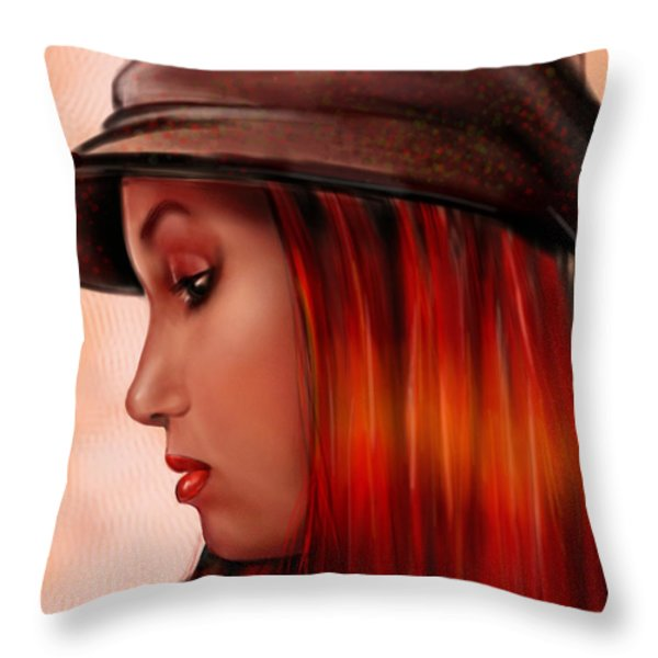 T-whizzle Throw Pillow by Pete Tapang