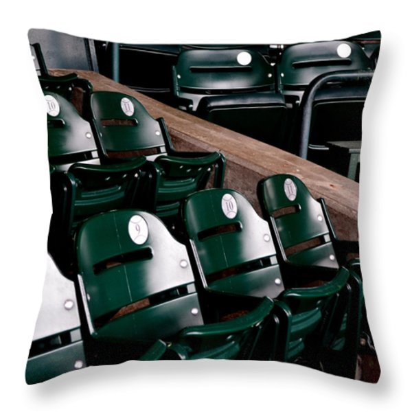 Take Me Out to the Ball Game Throw Pillow by Michelle Calkins