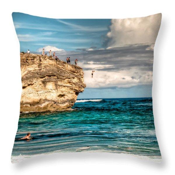Take The Plunge Throw Pillow by Natasha Bishop