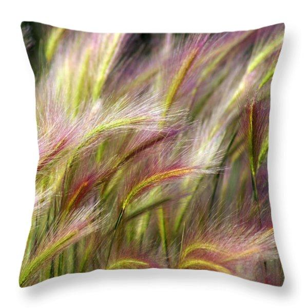 Tall Grass Throw Pillow by Marty Koch
