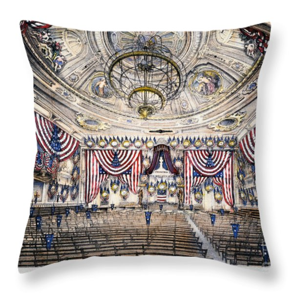 Tammany Hall, Nyc Throw Pillow by Granger