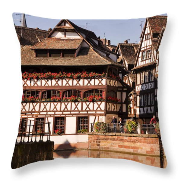Tanners House Strasbourg Throw Pillow by Louise Heusinkveld