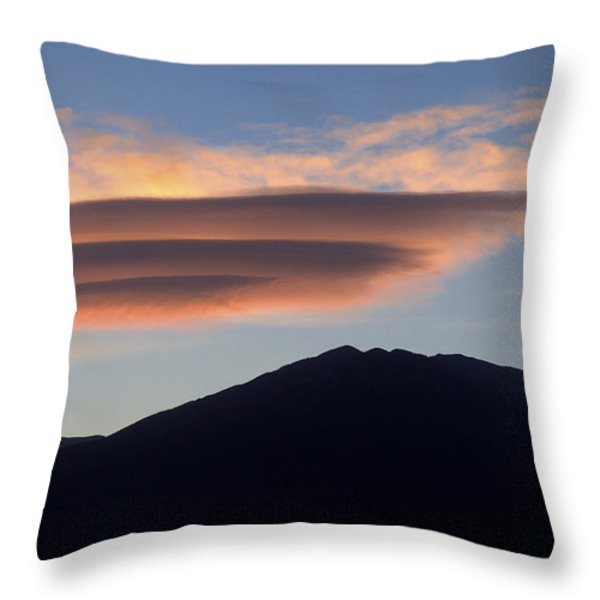 Taos Sunset Throw Pillow by Jerry McElroy