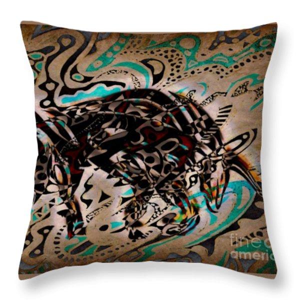 Taurus Throw Pillow by WBK
