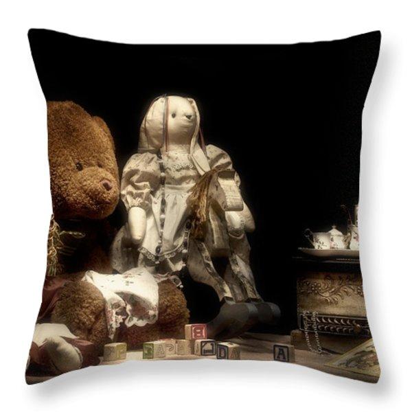 Tea Party Throw Pillow by Tom Mc Nemar