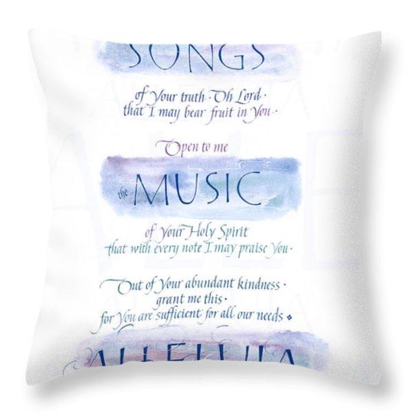 Teach Me B Throw Pillow by Judy Dodds