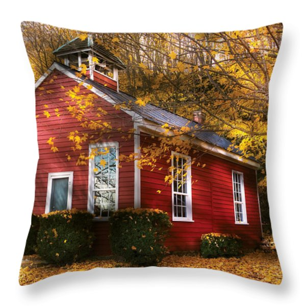 Teacher - School Days Throw Pillow by Mike Savad