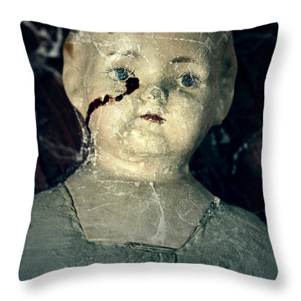 tears of blood Throw Pillow by Joana Kruse