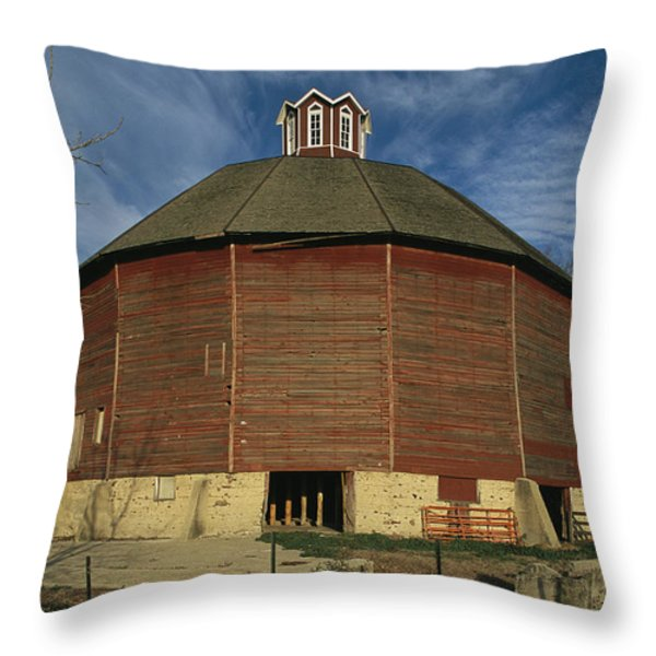 Teeple Barn, Built Circa 1885 By Dairy Throw Pillow by Ira Block