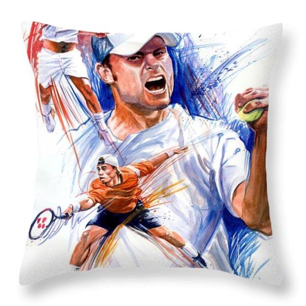 Tennis snapshot Throw Pillow by Ken Meyer jr