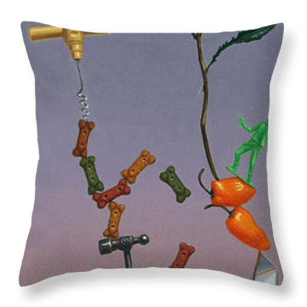Tenuous Still-life 3 Throw Pillow by James W Johnson