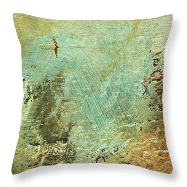 Terra Firma Abstract Throw Pillow by Anahi DeCanio