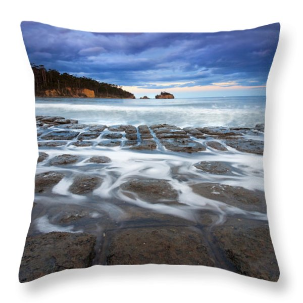 Tessellated Flow Throw Pillow by Mike  Dawson
