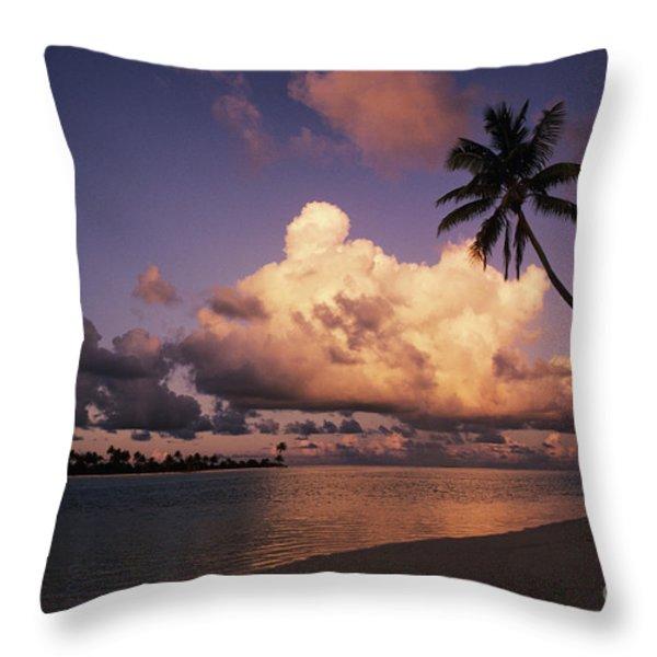 Tetiaroa Throw Pillow by Larry Dale Gordon - Printscapes