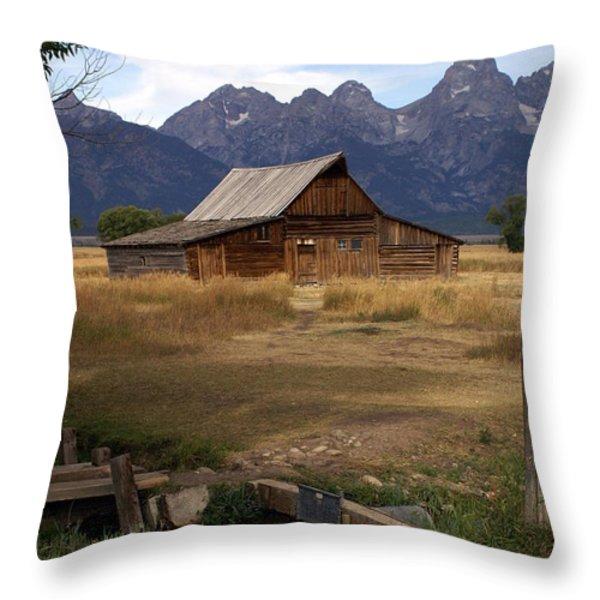 Teton Barn 2 Throw Pillow by Marty Koch