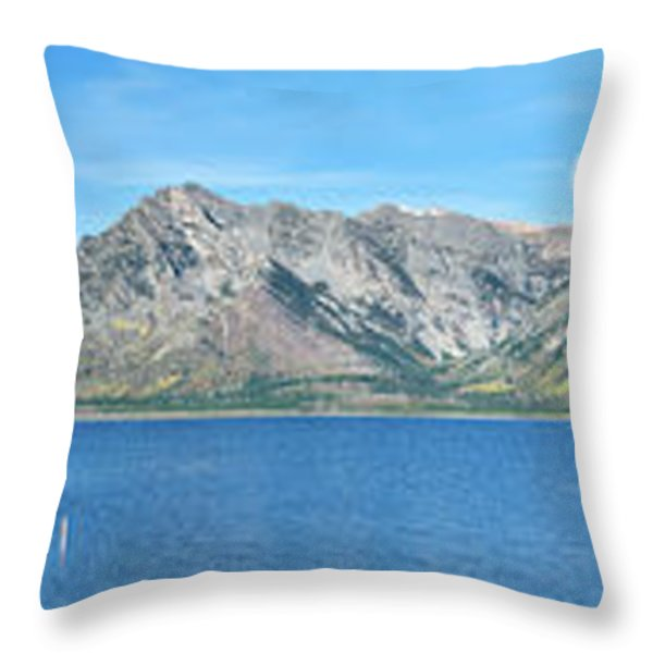 Teton Moonset Borderless Throw Pillow by Greg Norrell