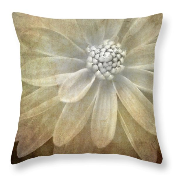 textured dahlia Throw Pillow by Meirion Matthias
