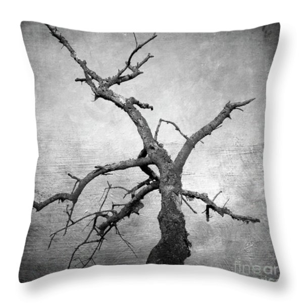 Textured tree Throw Pillow by BERNARD JAUBERT