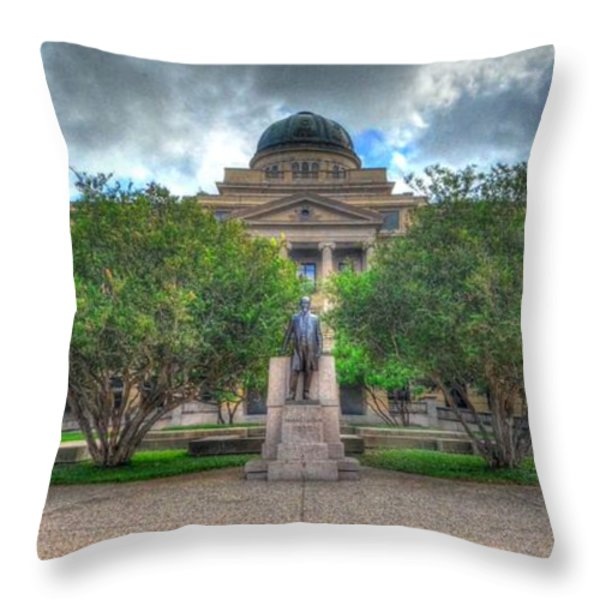 The Academic Building Throw Pillow by David Morefield