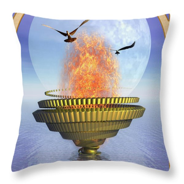 The Ace Of Cups Throw Pillow by John Edwards