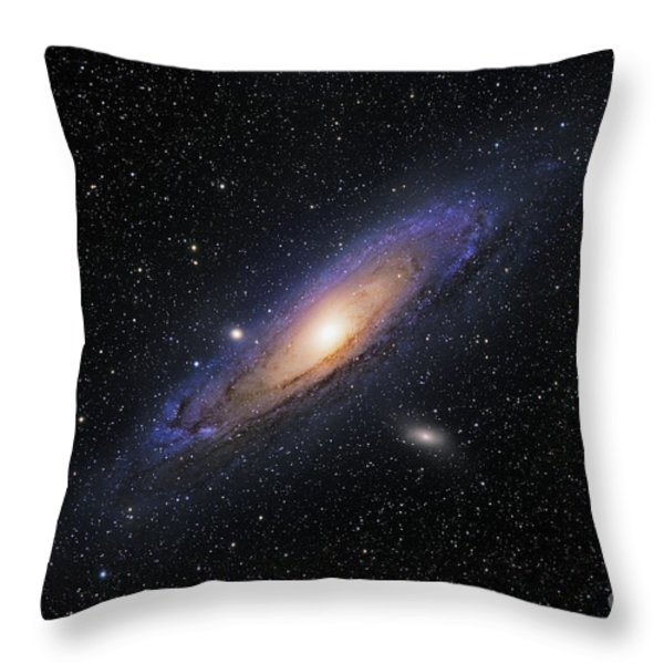 The Andromeda Galaxy Throw Pillow by Roth Ritter