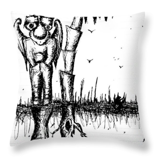 The Angel Is The Devil Throw Pillow by Jera Sky
