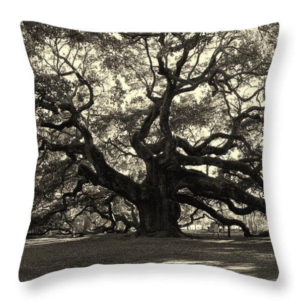 The Angel Oak Throw Pillow by Susanne Van Hulst